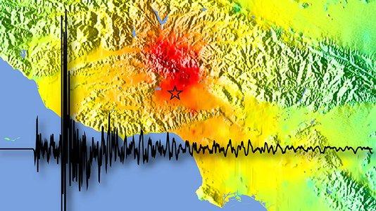地图上的地震仪图像