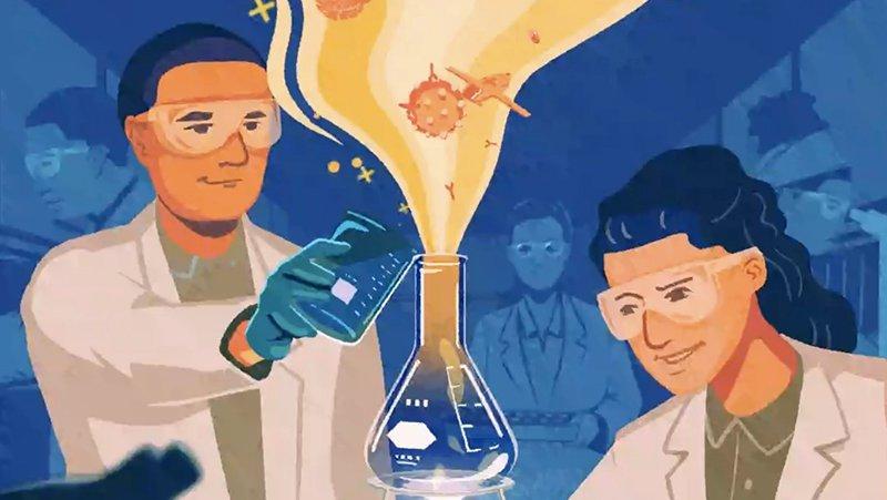 实验室里的科学家