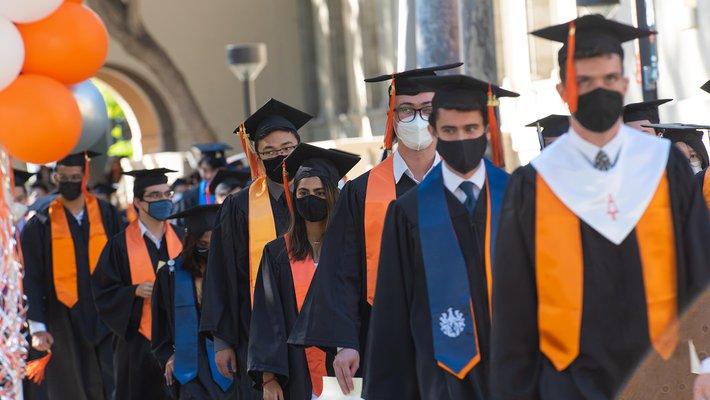 Graduates celebrate the October commencement 2021