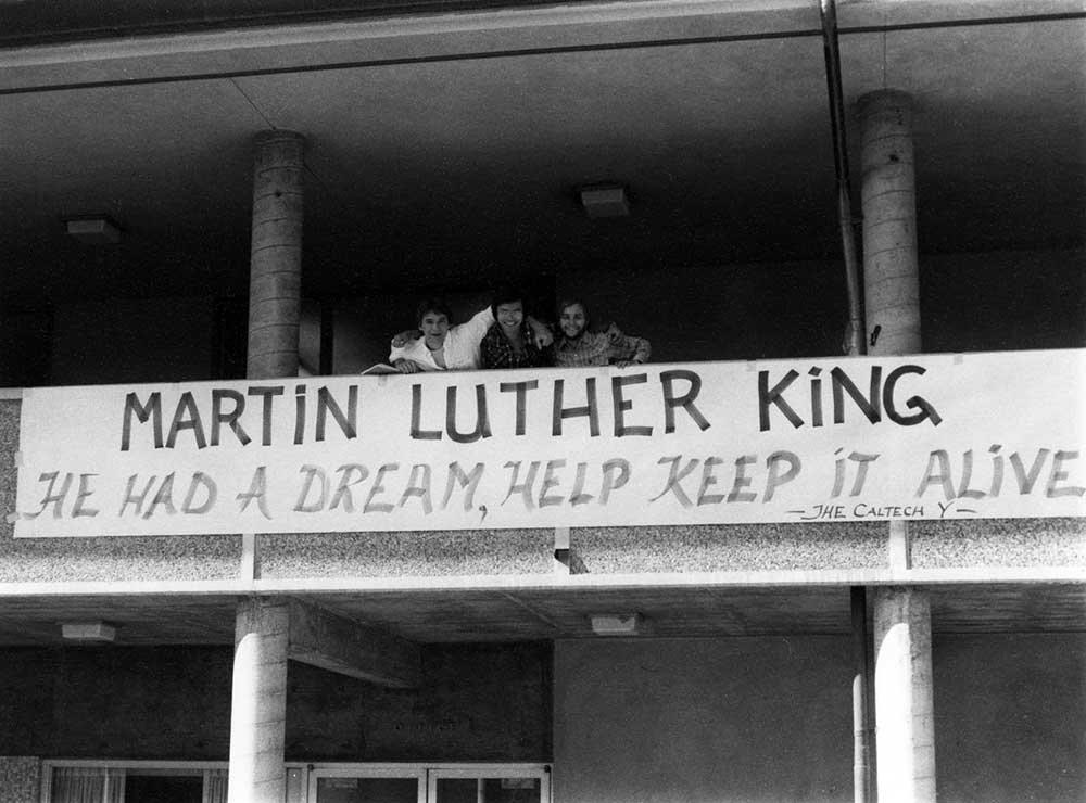 Caltech Y banner for MLK