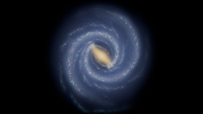 Illustration of our spiral Milky Way