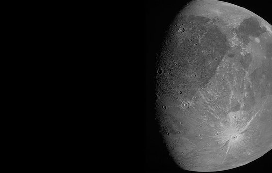 Picture of the moon Ganymede