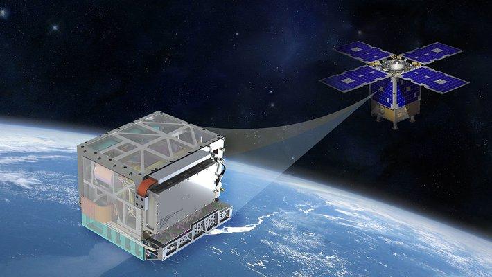 Artwork of Deep Space Atomic Clock instrument.