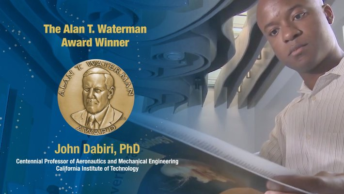 promo image for John Dabiri's Waterman Award