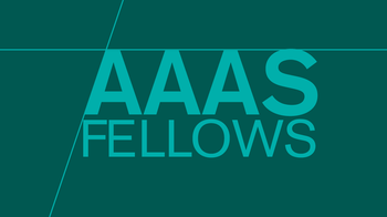 "the words ""AAAS Fellows"" on a green background"