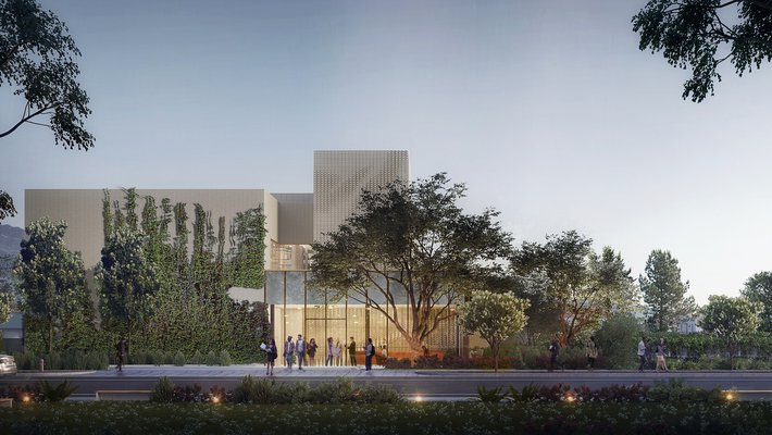 A rendering of the AWS Center for Quantum Computing, which is expected to open on Holliston Avenue in spring 2021.