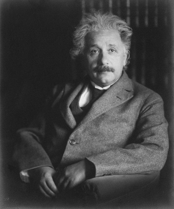 Albert Einstein in Berlin, 1928.