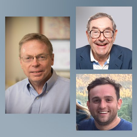 David Tirrell (left), Harry Gray (upper right), and Bryan Hunter.
