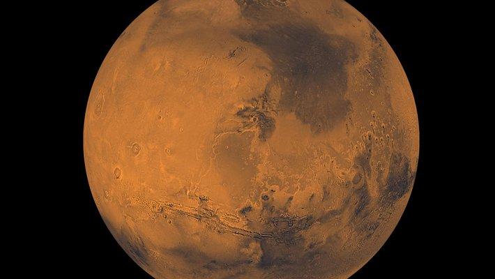 Mars as seen from orbit