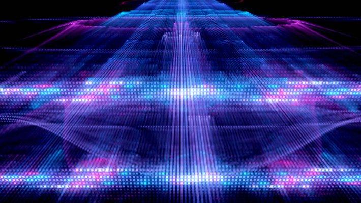 Artwork of a quantum process.