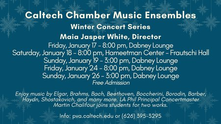 postcard for Winter 2020 chamber music concerts