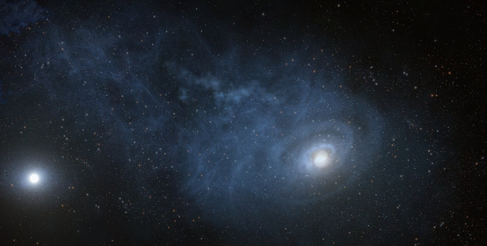 Artwork of growing galaxy.