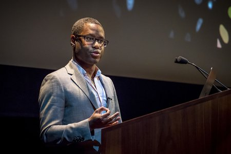 David Van Valen speaking at Convocation 2019