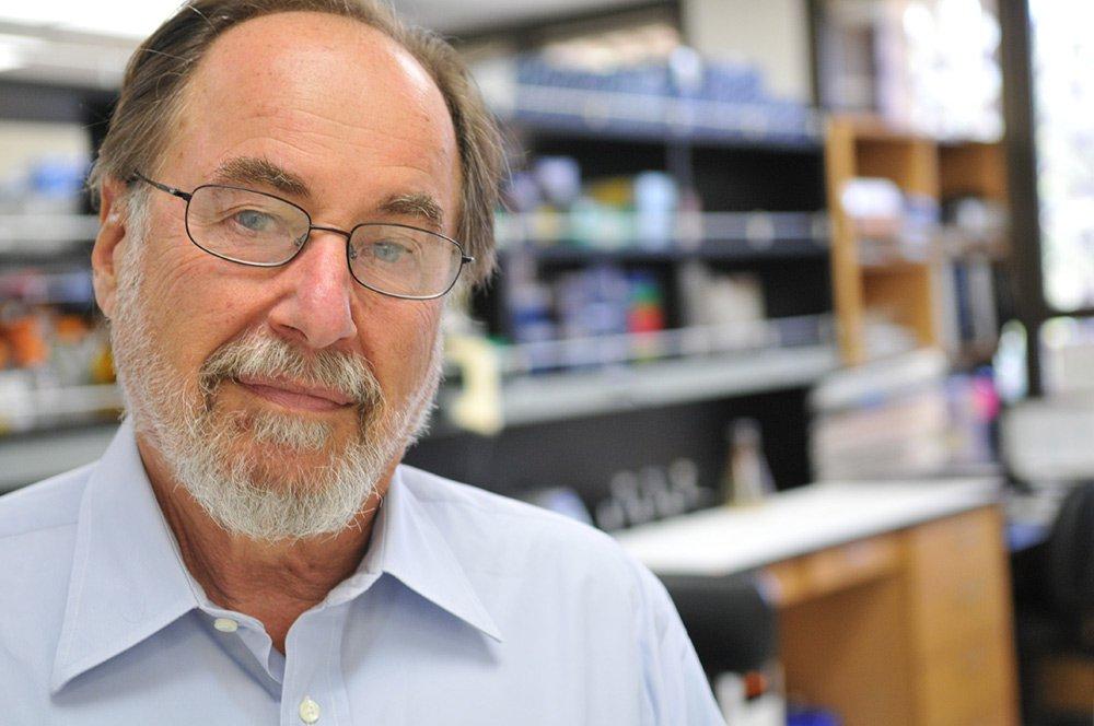 David Baltimore in a laboratory