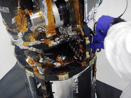 A view inside the CIBER-2 experiment