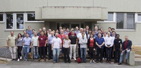 A group photo of the Polarimetry Team.