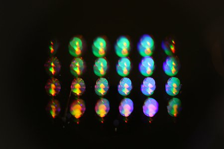 Retroreflectors created in the lab of Andrei Faraon reflect light.