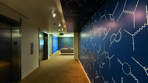 Feynman diagrams on wall