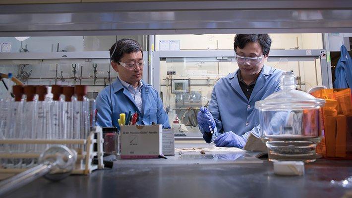 Gregory Fu and Zhaobin Wang at Caltech.