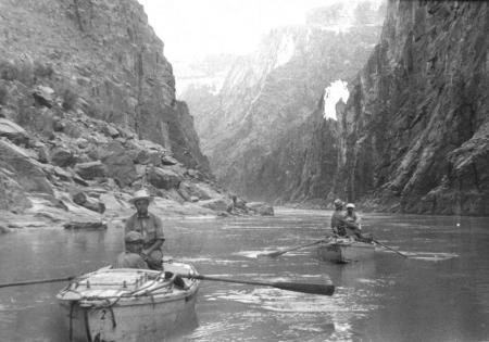 photo of two row boats on a Grand Canyon expedition in 1939