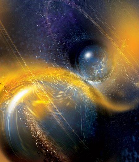 Artwork of the neutron star merger