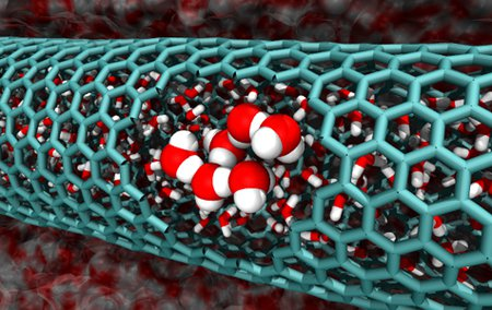 cutaway of a 2.0 nanometer-diameter carbon nanotube