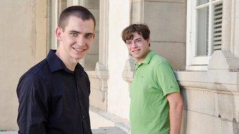 2015 Hertz Foundation Fellows Charles Tschirhart (left) and Adam Jermyn (right)