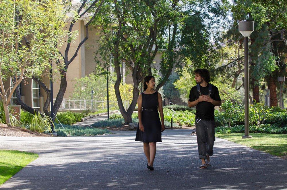 Caltech's 2015 Watson Fellows, Janani Mandayam Comar and Aaron Krupp.