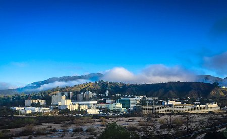 photo of JPL and mountains