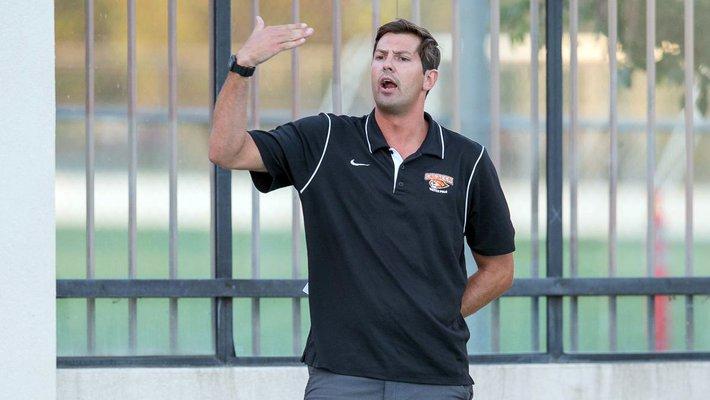 Caltech men's water polo head coach Jon Bonafede