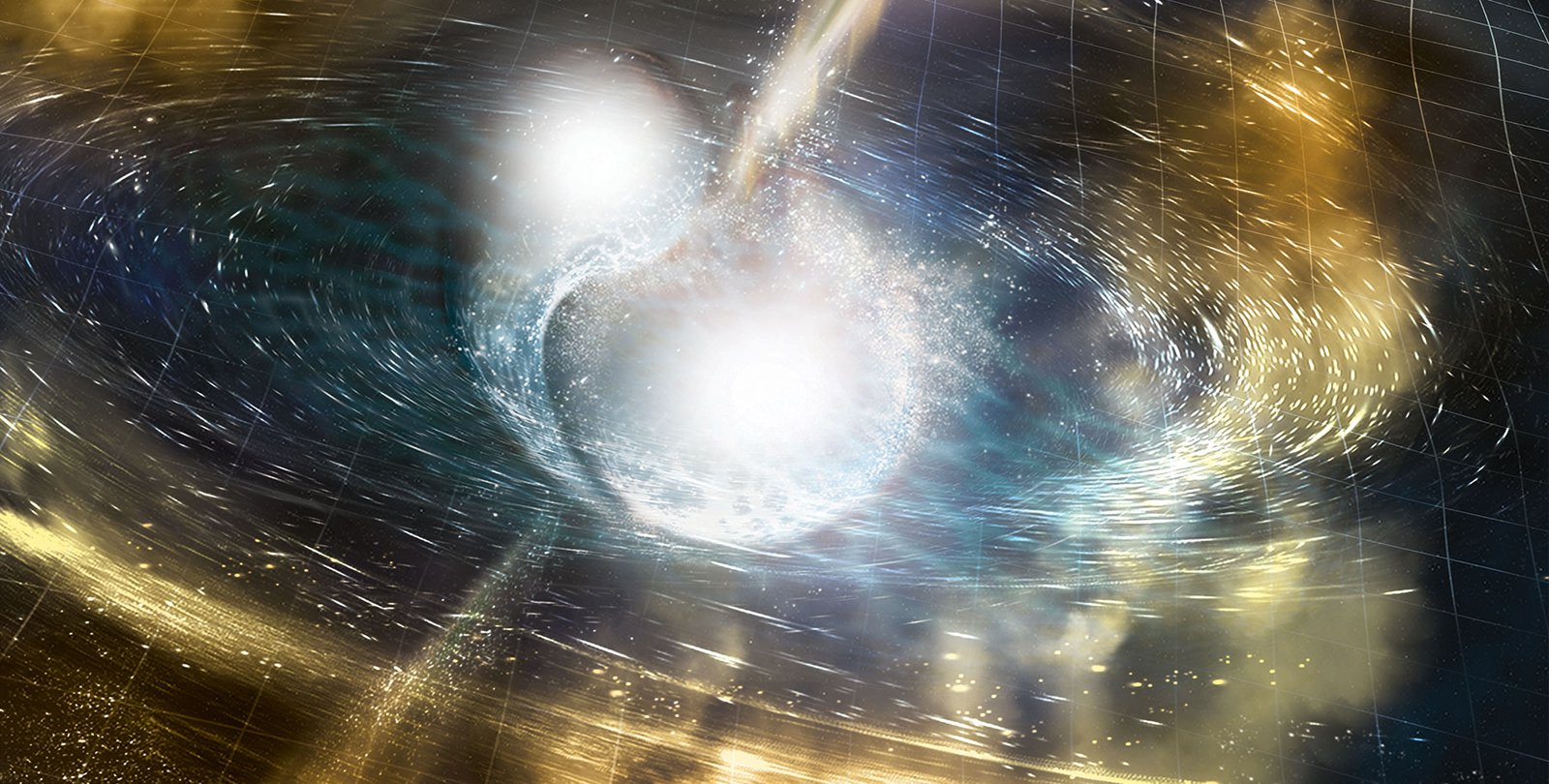 Artwork of neutron stars.
