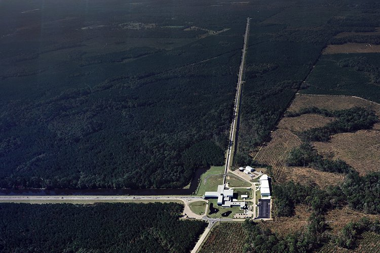 Aerial photograph of LIGO Livingston facility