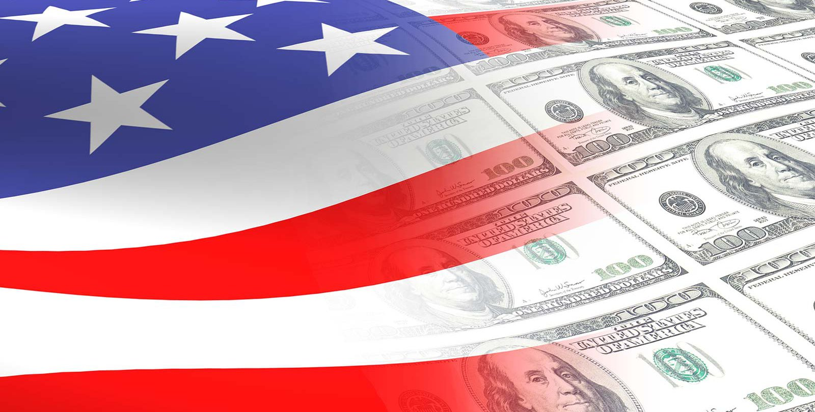 Stock photo of flag and money