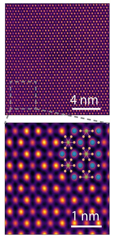 SEM crystal image