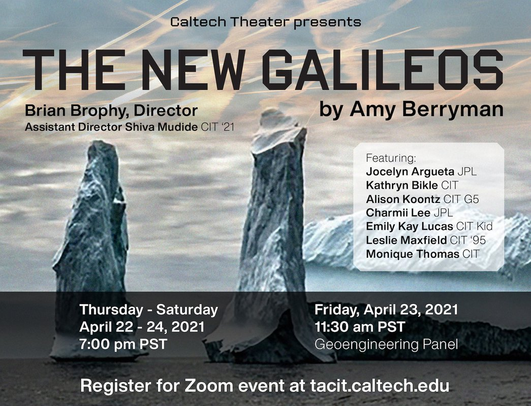 "flyer for ""The New Galileos"""