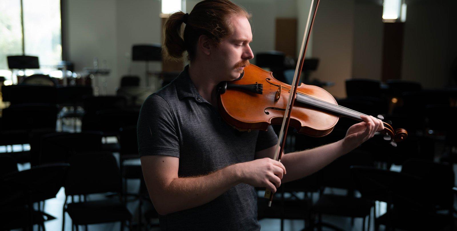 Viola player Sean Byrne