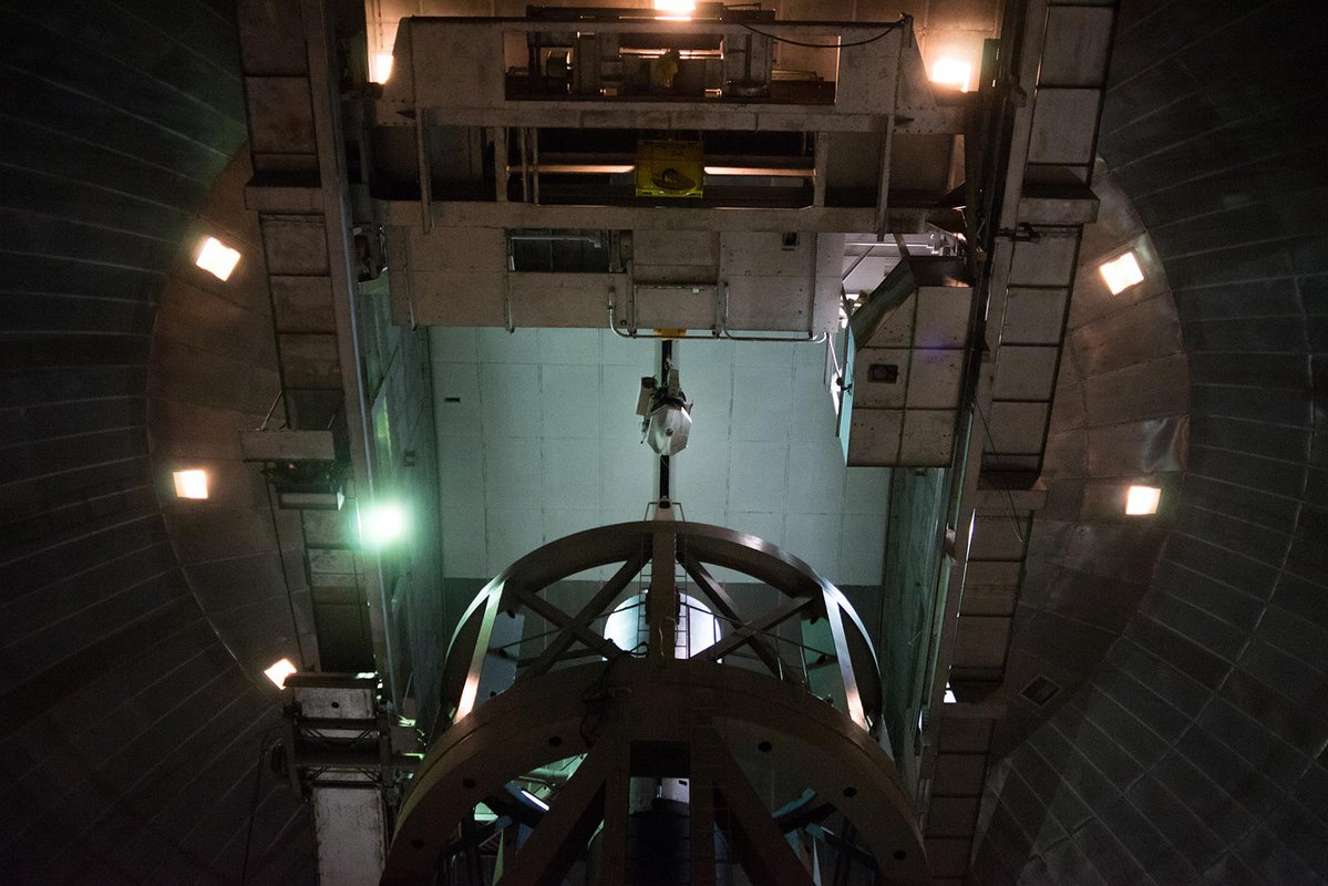 The WIRC+Pol instrument in the 200-inch Hale dome at Palomar.