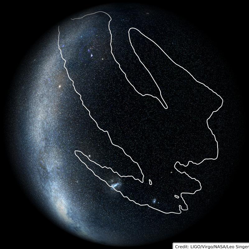 sky map of LIGO signal S190425z