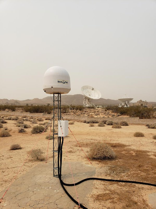 A STARE2 radio receiver at the Goldstone Deep Space Communications Complex.