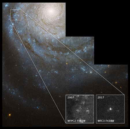 Hubble picture of progenitor star candidate