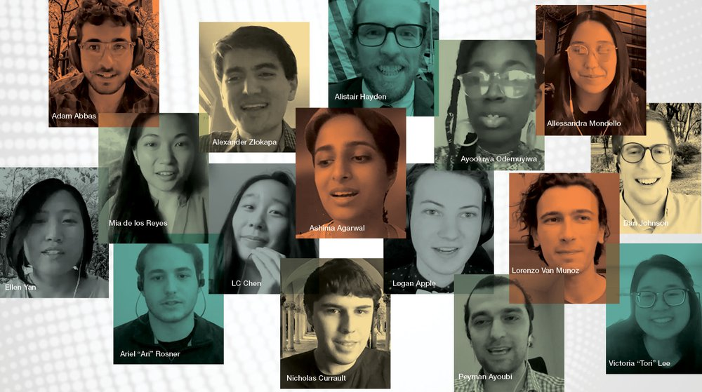 Student award winners 2021 portaits in a collage