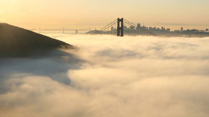 clouds in the San Francisco Bay