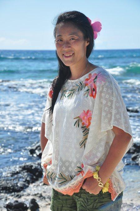 Julia Wang at the ocean