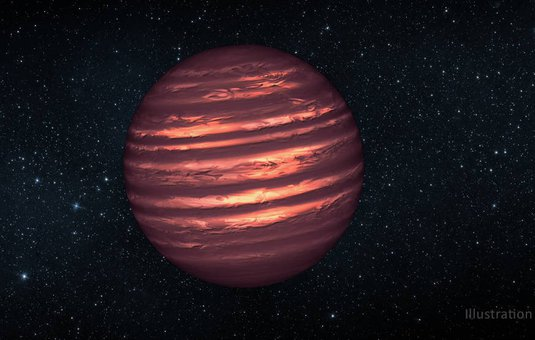 artist concept of a brown dwarf