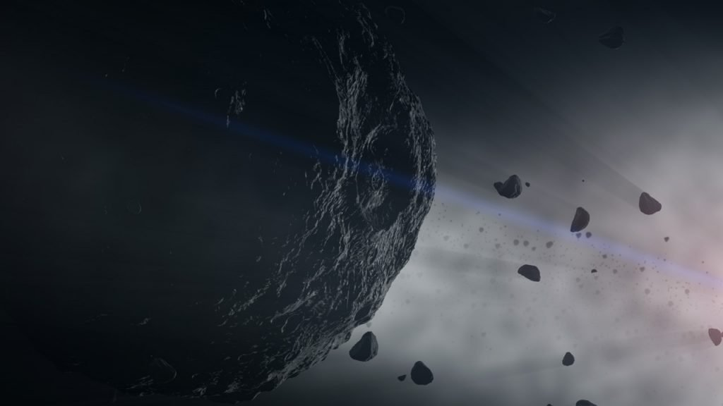 Illustration of an asteroid