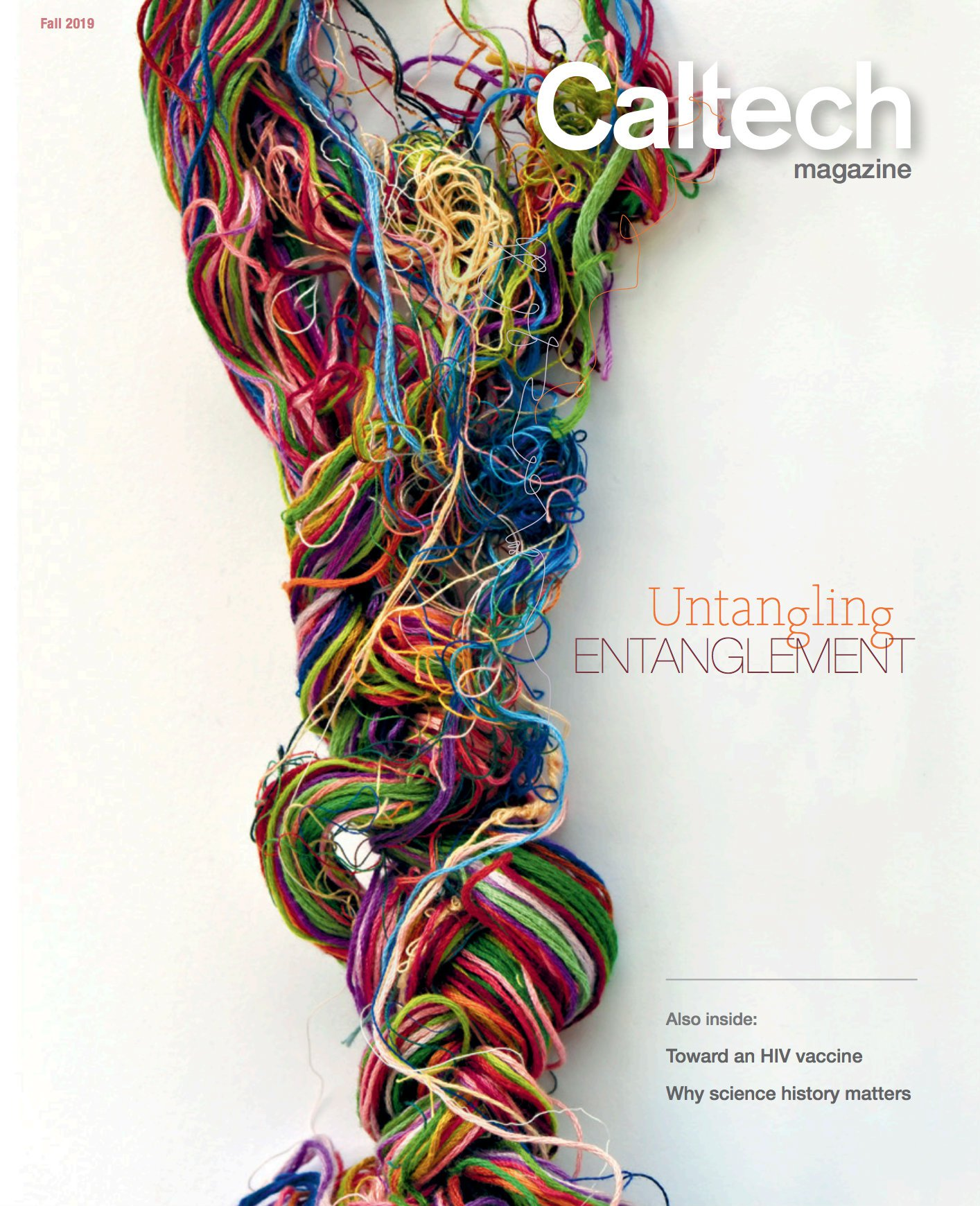cover of the Fall 2019 issue of Caltech magazine