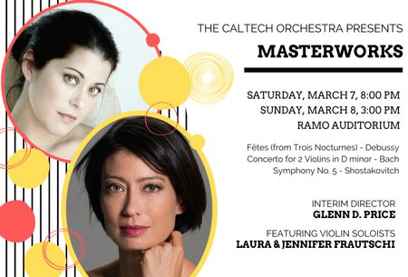 promo image for Caltech Orchestra's March 2020 concerts