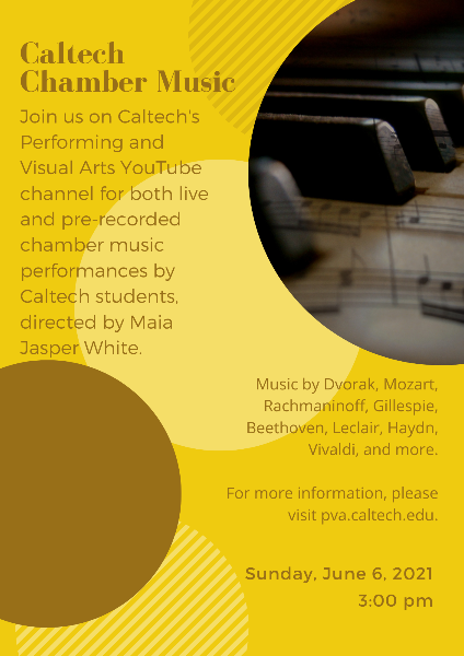 flyer for chamber music concert