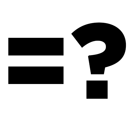 equals sign and question mark