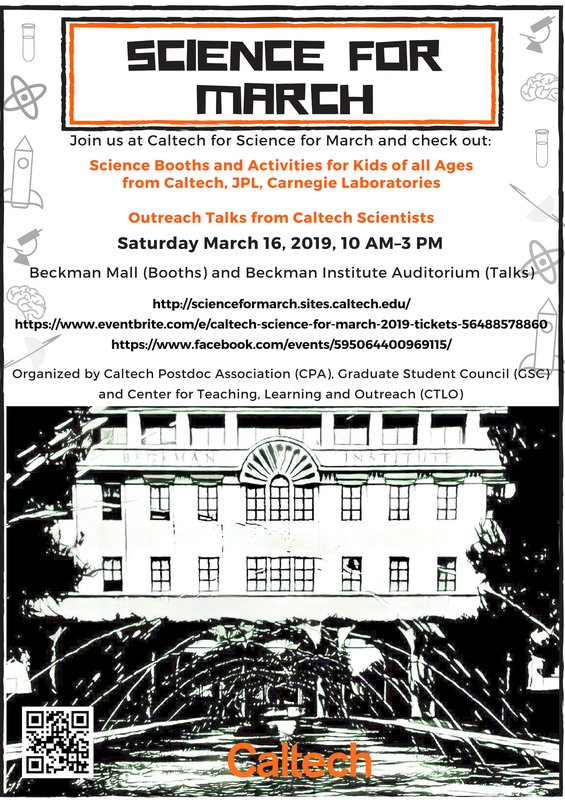 flyer for the 2019 Science for March event